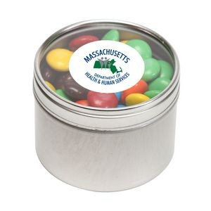 M&Ms® Plain in Sm Round Window Tin