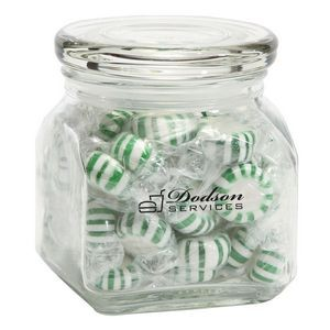 Striped Spearmints in Sm Glass Jar